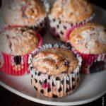 Muffins chocolat blanc framboises à l'huile d'olive
