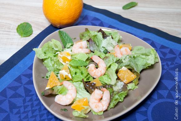 Salade Crevettes Orange