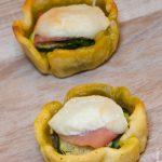 Tartelettes courgettes pesto chevre jambon