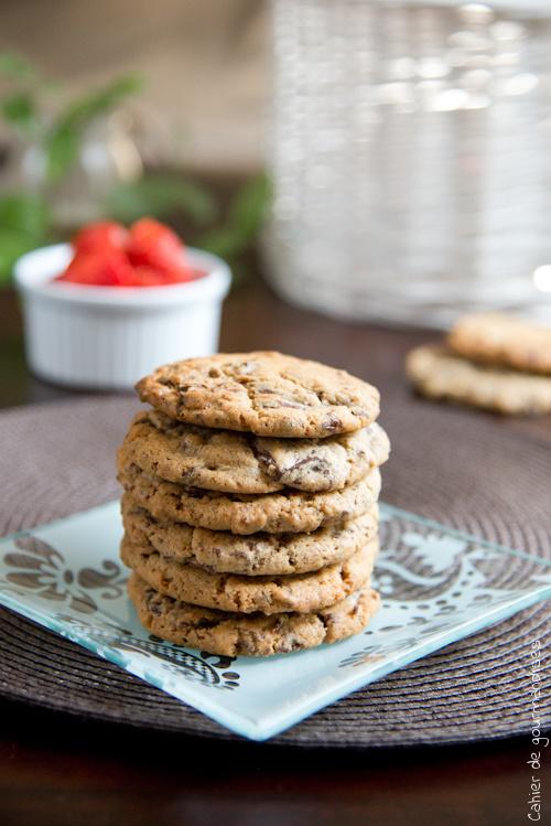 Cookies Chocolat Amande - Cahier de gourmandises