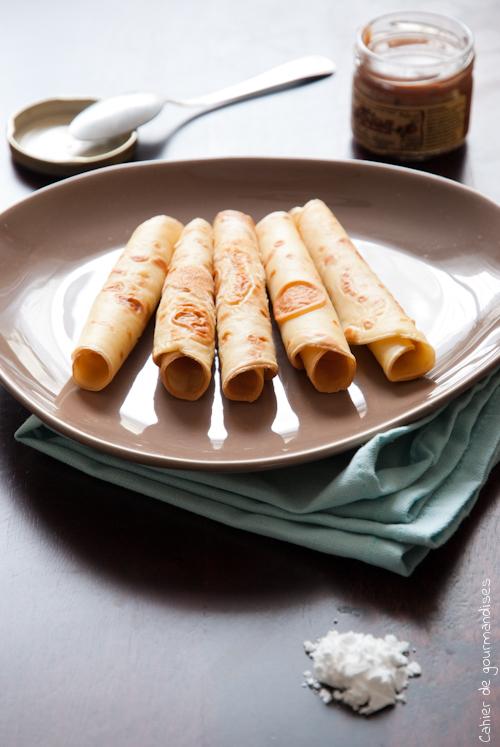 Crepes sucrees - Cahier de gourmandises