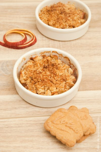 Crumble pommes-spéculoos