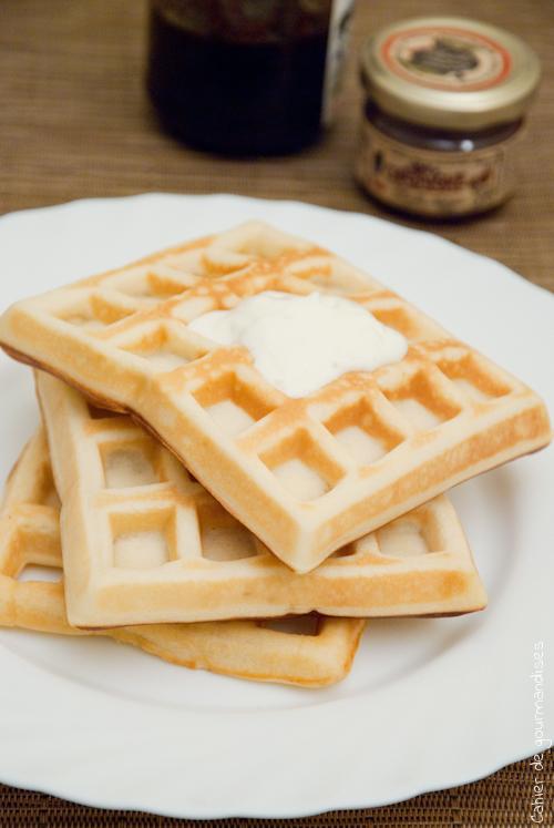 Gaufres sucr es cahier de gourmandises - Gaufre sans beurre ...