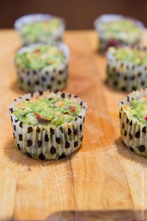 Muffins Cheddar Epinards - Cahier de gourmandises
