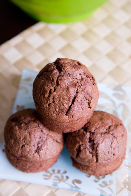 Muffins Chocolat Noisettes - Cahier de gourmandises