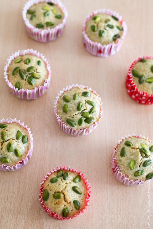 Muffins Citron Pistache - Cahier de gourmandises