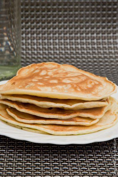 Pancakes courgettes et chorizo
