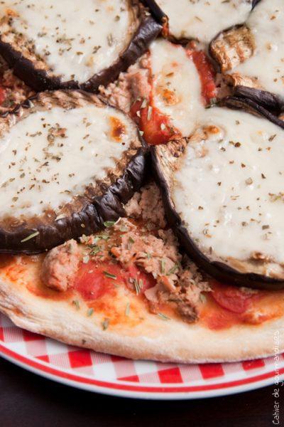 Pizza Thon & Aubergines