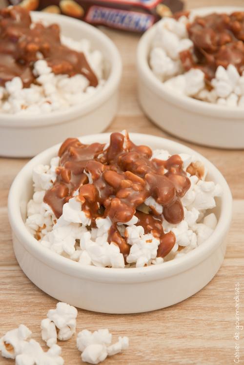 Popcorn aux Snickers - Cahier de gourmandises