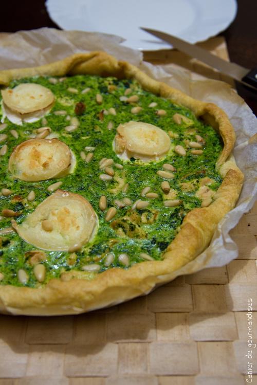 Quiche Epinards Chevre Poulet - Cahier de gourmandises