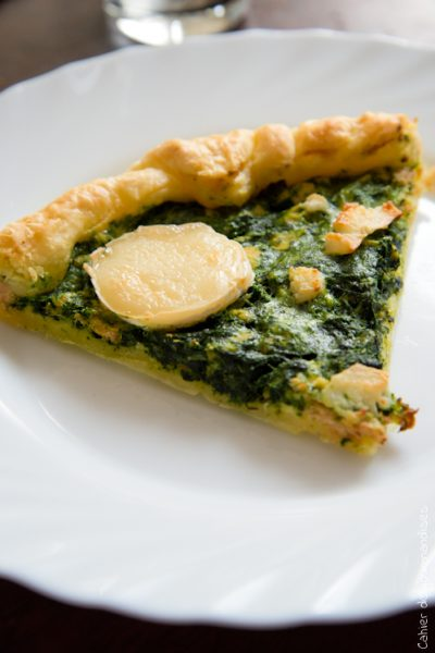 Quiche Epinards Saumon - Cahier de gourmandises