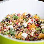 Salade de petit épeautre à la grenade, oranges et à la feta