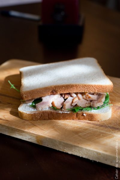 Sandwich poulet roquette & chèvre frais