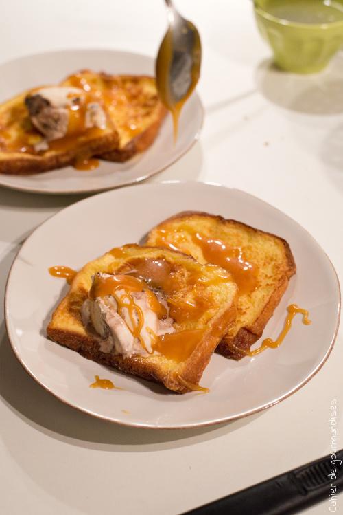 Brioche Perdue Caramel Beurre Salé et Boule de Glace
