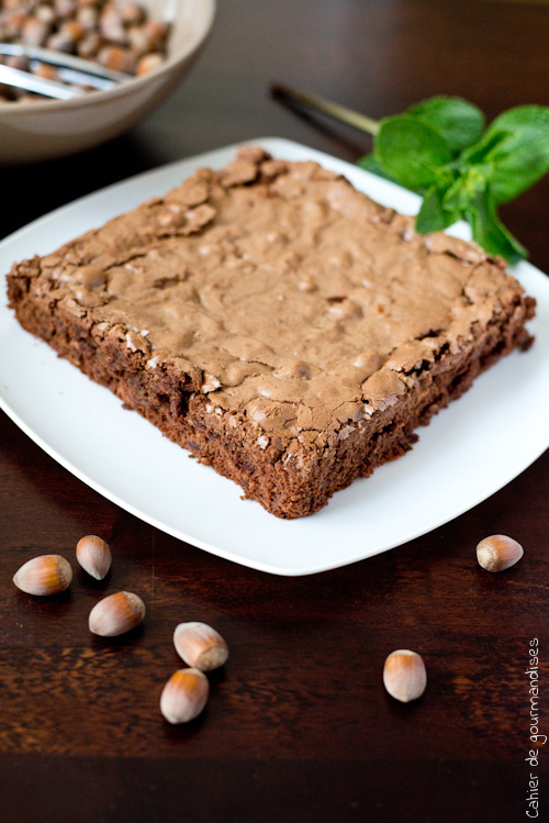 Brownies Noisettes Menthe