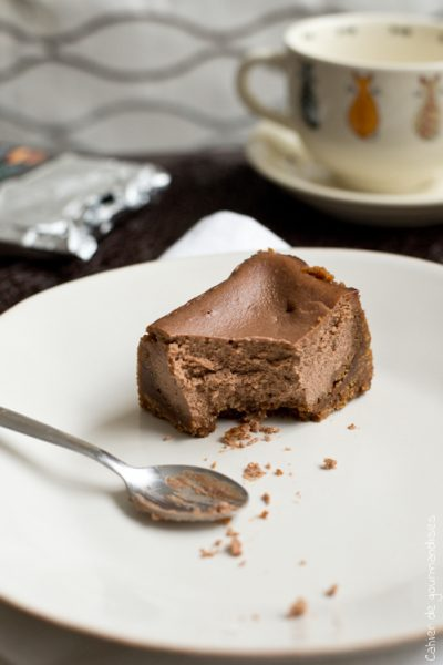 Cheesecake au chocolat & cookies