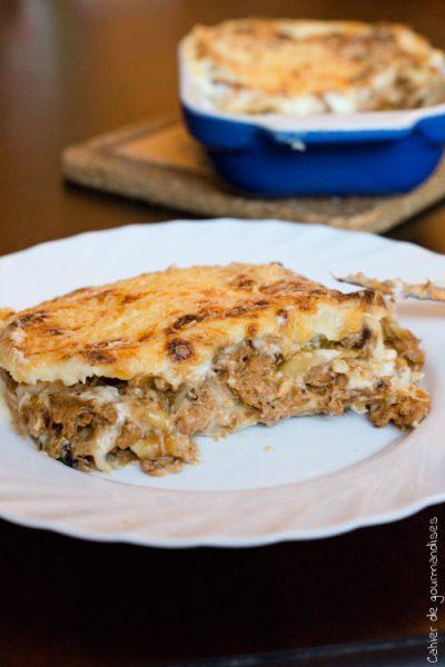 Lasagnes thon & courgette, béchamel au mascarpone