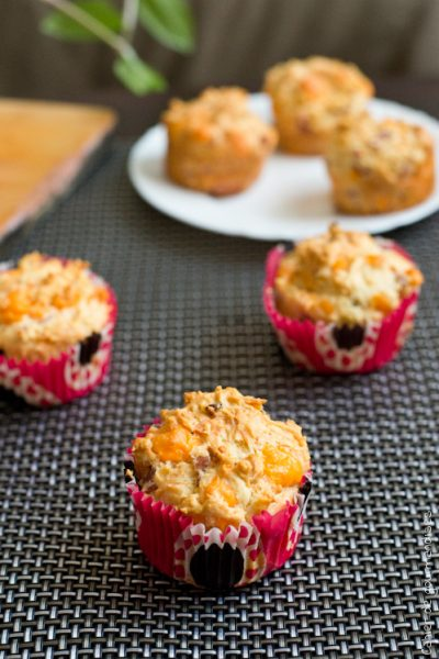 Muffins mimolette et jambon blanc