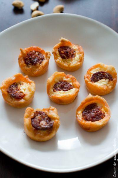 Quichettes au chorizo et parmesan (+Concours)