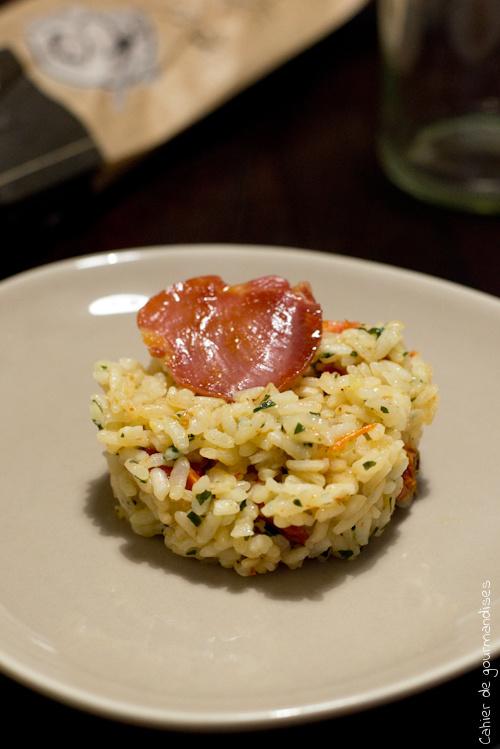 Risotto Tomates Pancetta