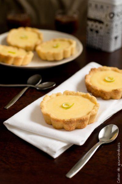 Tartelettes noisettes et citron