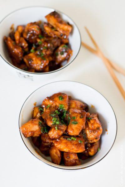 Poulet grillé sauce gochujang