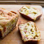Cake léger poireau lardons