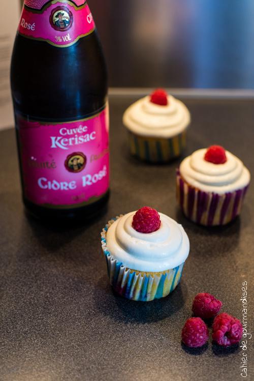 Cupcakes à la Framboise et à la Chantilly