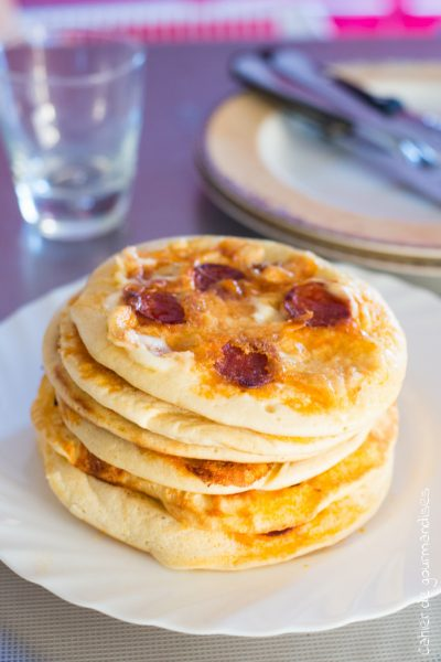 Pancakes Chorizo Mozza| Cahier de gourmandises