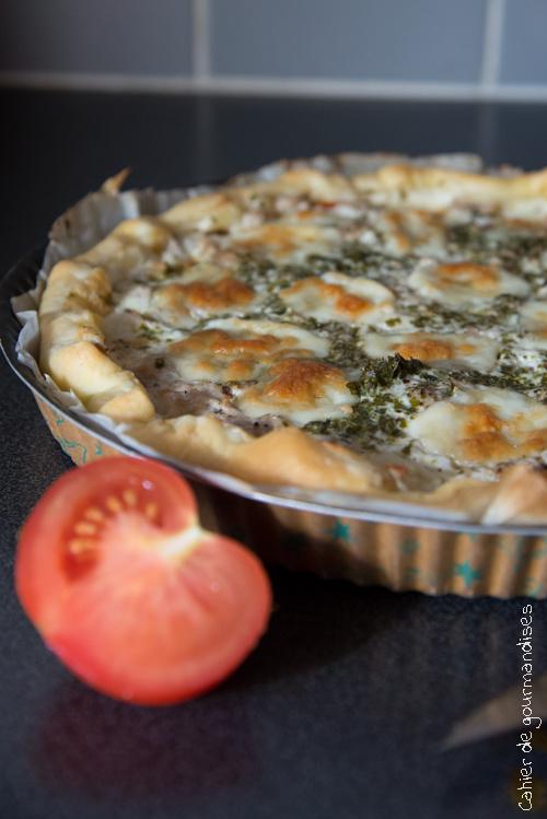 Tarte Thon Tomates Mozza