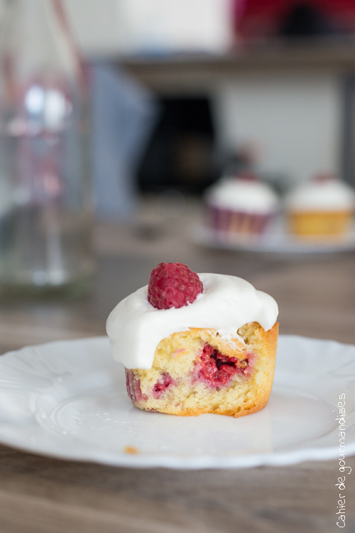 Cupcake Framboises Chantilly