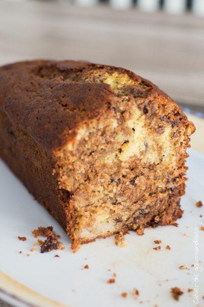 Cake Banane Chocolat | Cahier de gourmandises