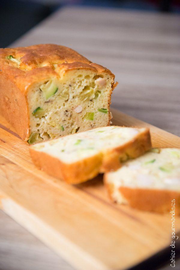 Cake Poulet Amandes & Courgettes | Cahier de gourmandises