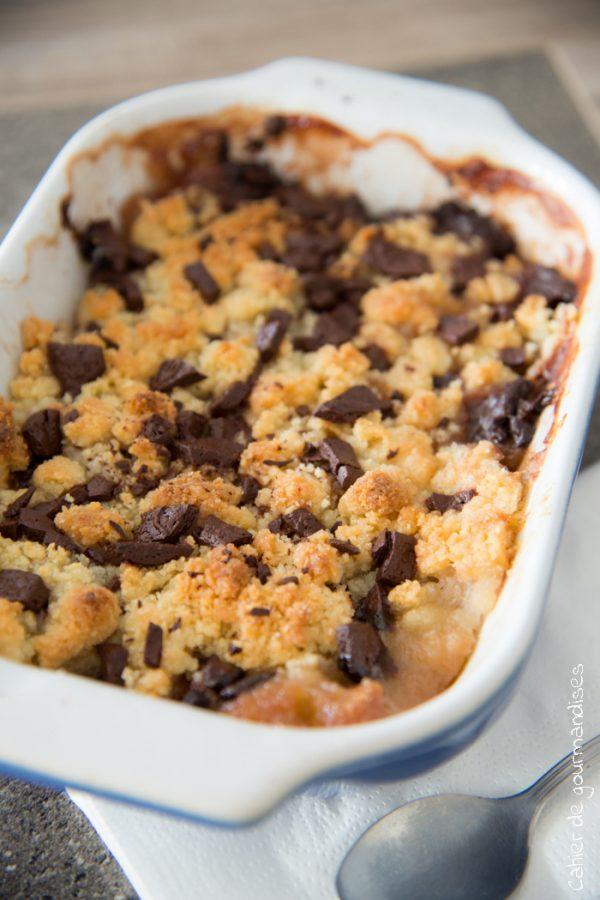 Crumble Pomme, Chocolat, Banane | Cahier de gourmandises
