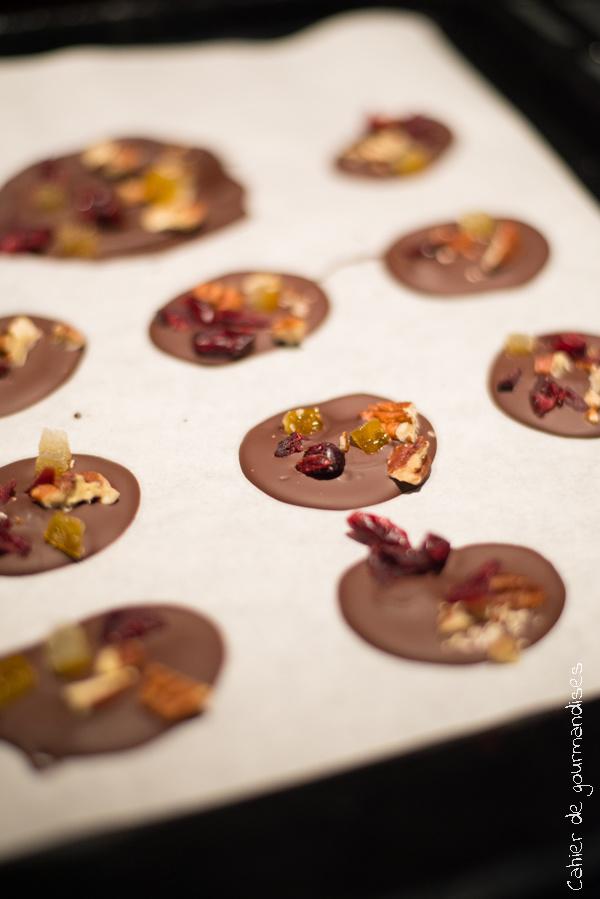 Mendiants au chocolat | Cahier de gourmandises