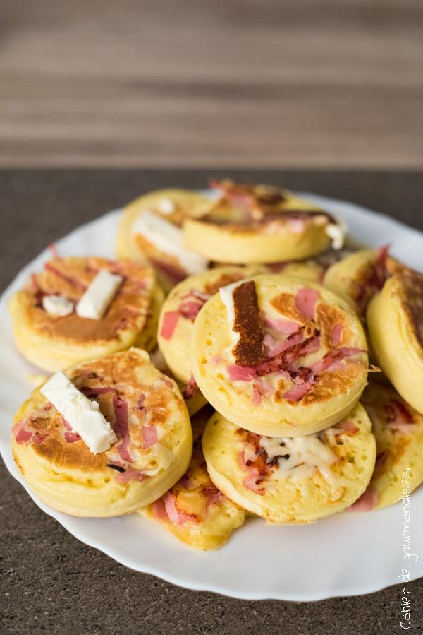 Pancakes au Bacon & au gruyère