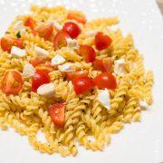 Pâtes Tomates Cerises Chevre| Cahier de gourmandises