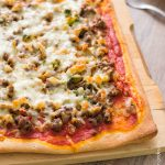 Pizza style bolognaise & touches de brocolis