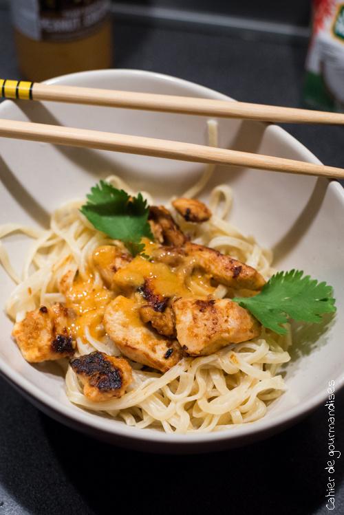 Poulet thaï coconu peanut | Cahier de gourmandises