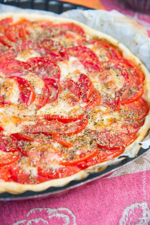 Tarte fine Tomates Mozzarella