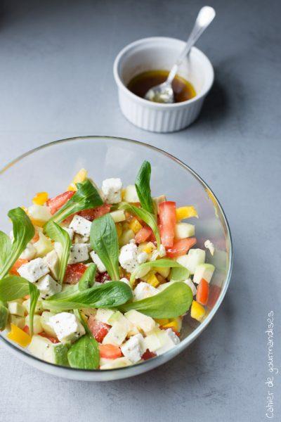 Salade de mâche et légumes du soleil… Bon été !
