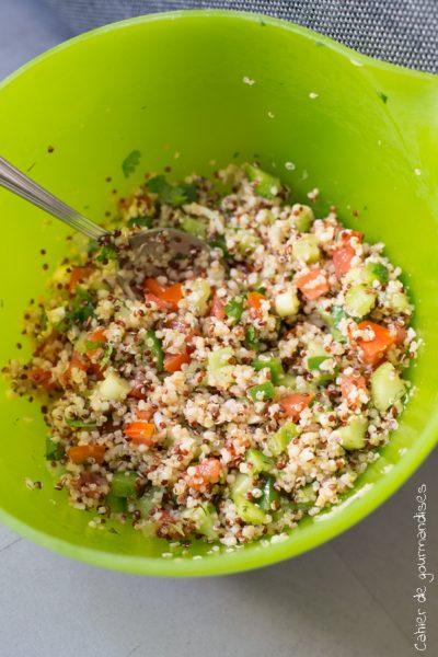 Salade de quinoa facon taboulé