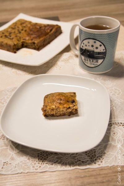 Gâteau banane et pépites de chocolat sans sucre raffiné
