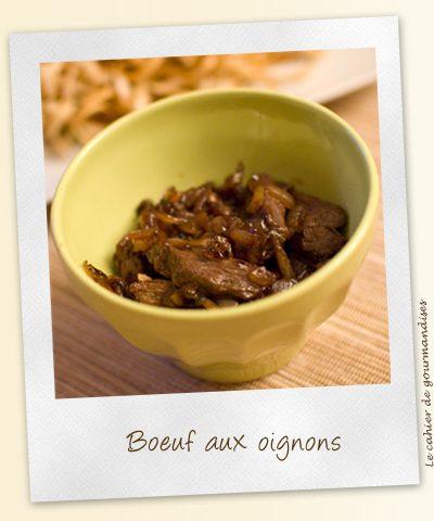 Boeuf aux oignons façon asiatique