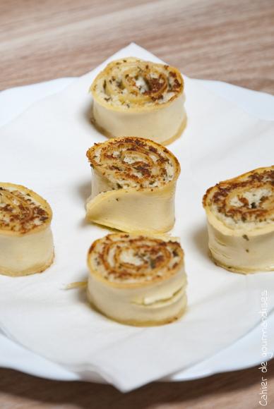 Rouleaux de lasagnes au pesto
