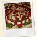 Brochettes Coppa Mozarella Tomates Confites Basilic
