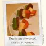 Brochettes Poivrons Chorizo