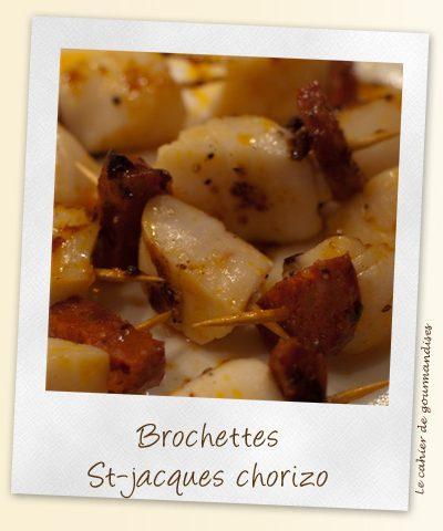 Brochettes  St jacques chorizo