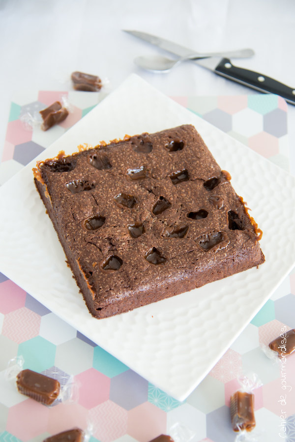 Brownies chocolat caramel | Cahier de gourmandises