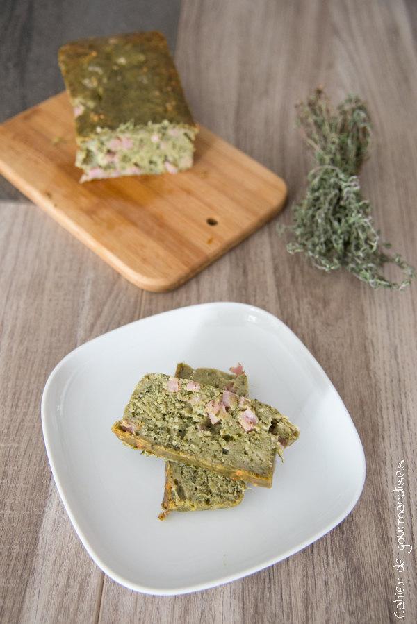 Cake Pesto Fanes Carottes | Cahier de gourmandises
